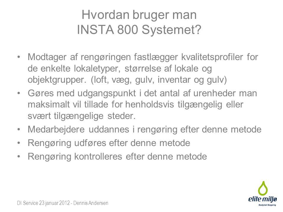 Hvordan bruger man INSTA 800 Systemet