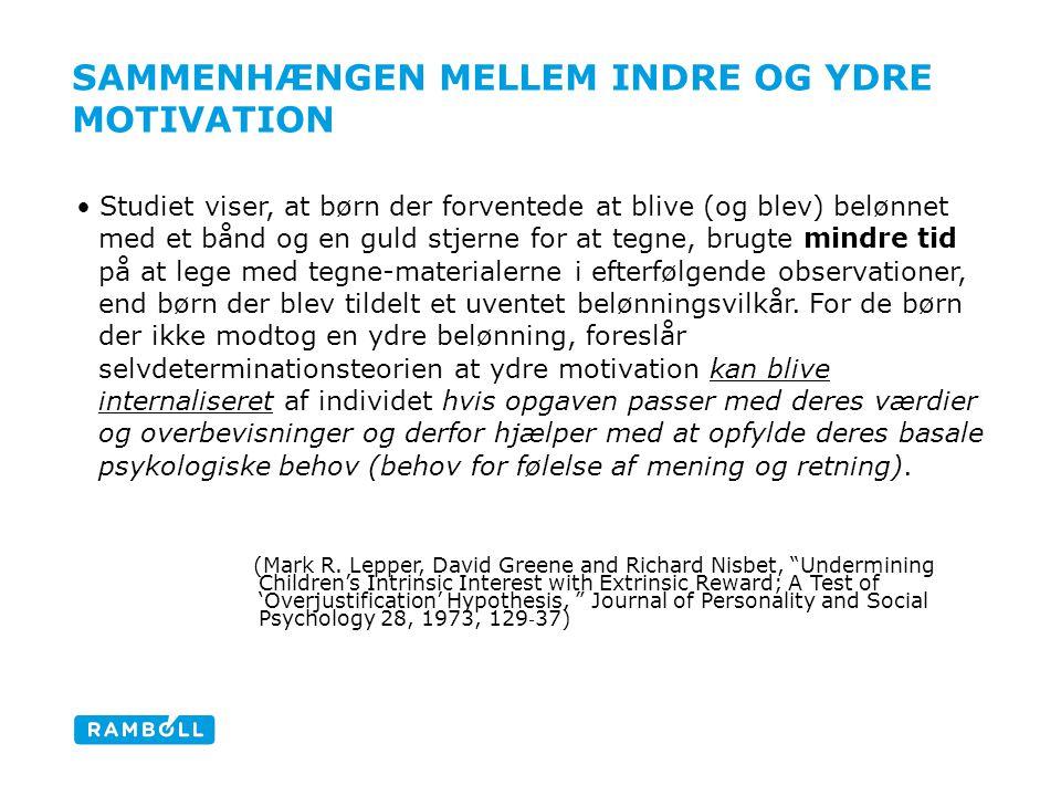 Sammenhængen mellem indre og ydre motivation