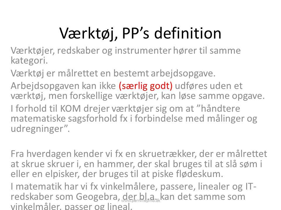 Værktøj, PP's definition