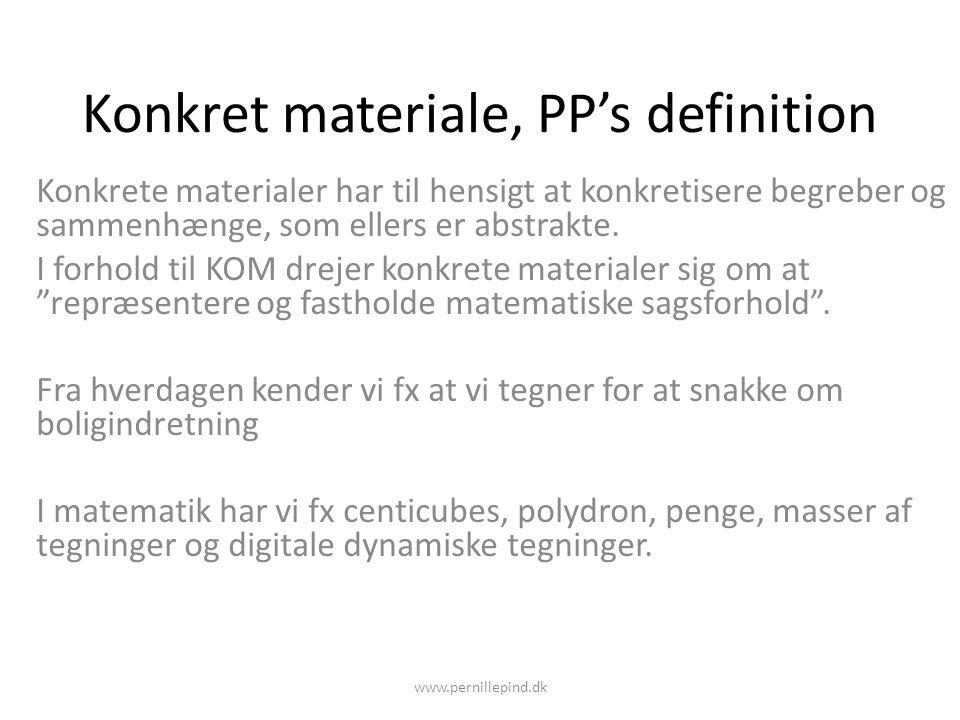 Konkret materiale, PP's definition