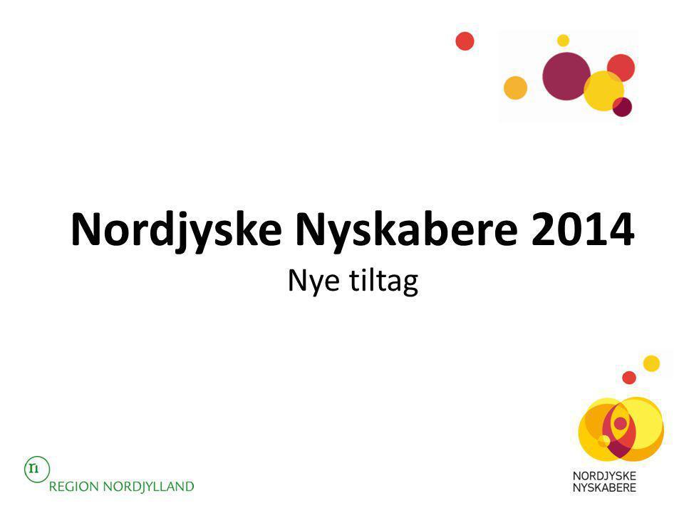 Nordjyske Nyskabere 2014 Nye tiltag
