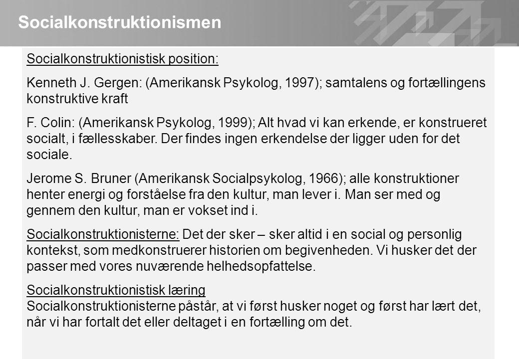 Socialkonstruktionismen