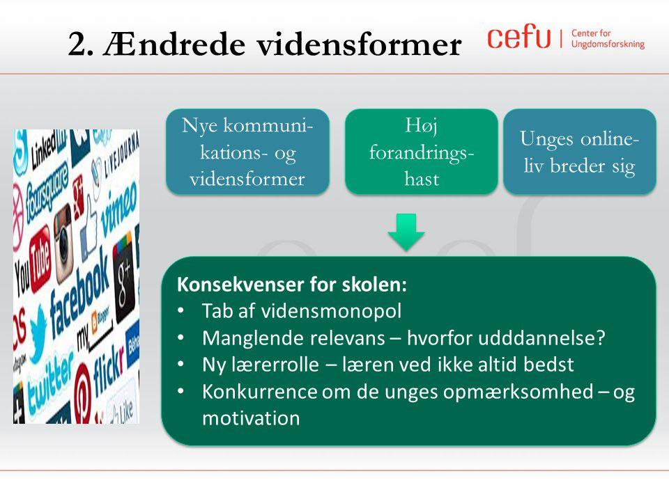 2. Ændrede vidensformer Nye kommuni-kations- og vidensformer
