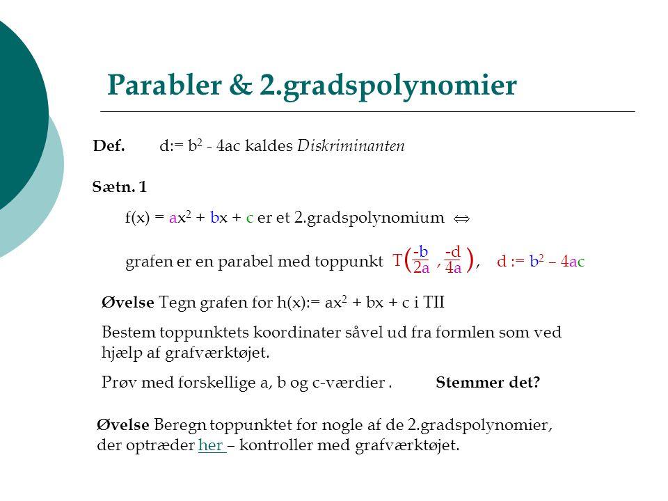 Parabler & 2.gradspolynomier