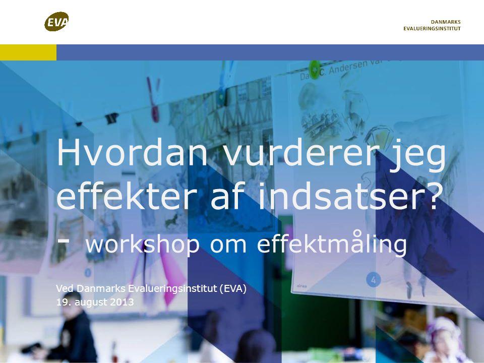 Hvordan vurderer jeg effekter af indsatser - workshop om effektmåling