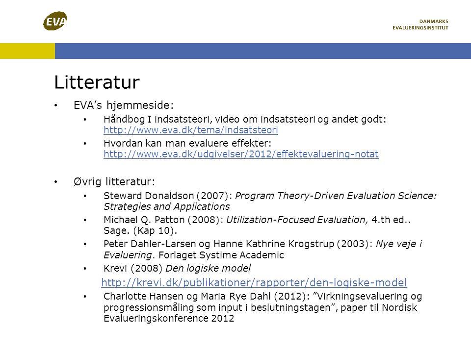 Litteratur EVA's hjemmeside: Øvrig litteratur: