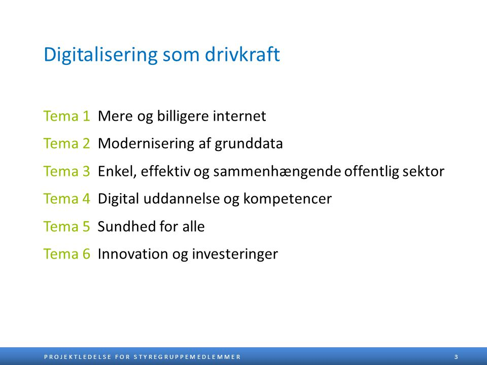 Digitalisering som drivkraft