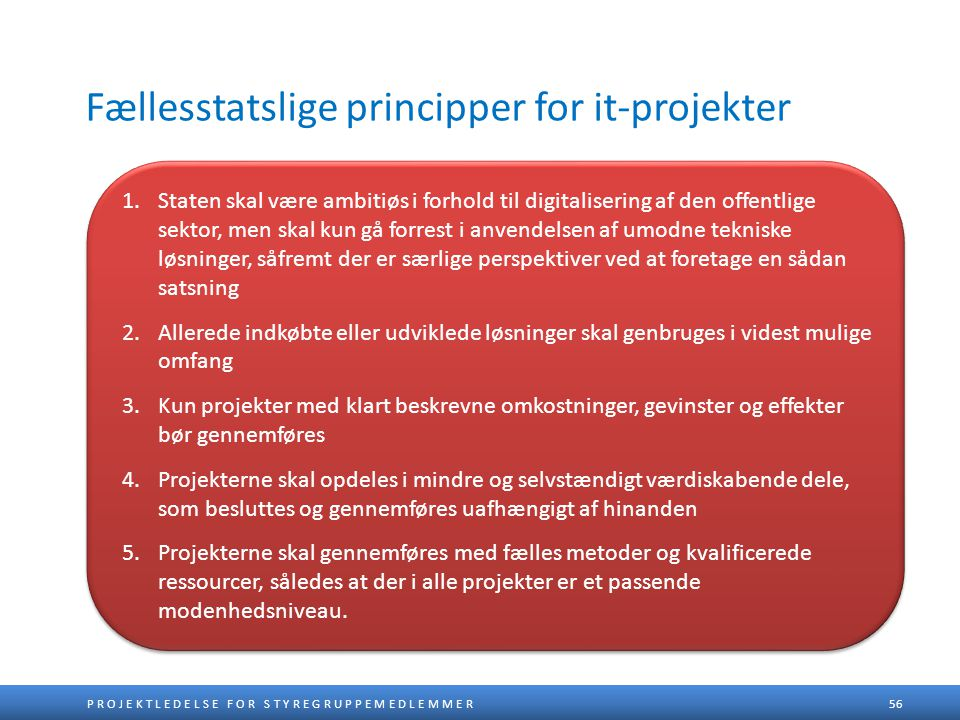 Fællesstatslige principper for it-projekter