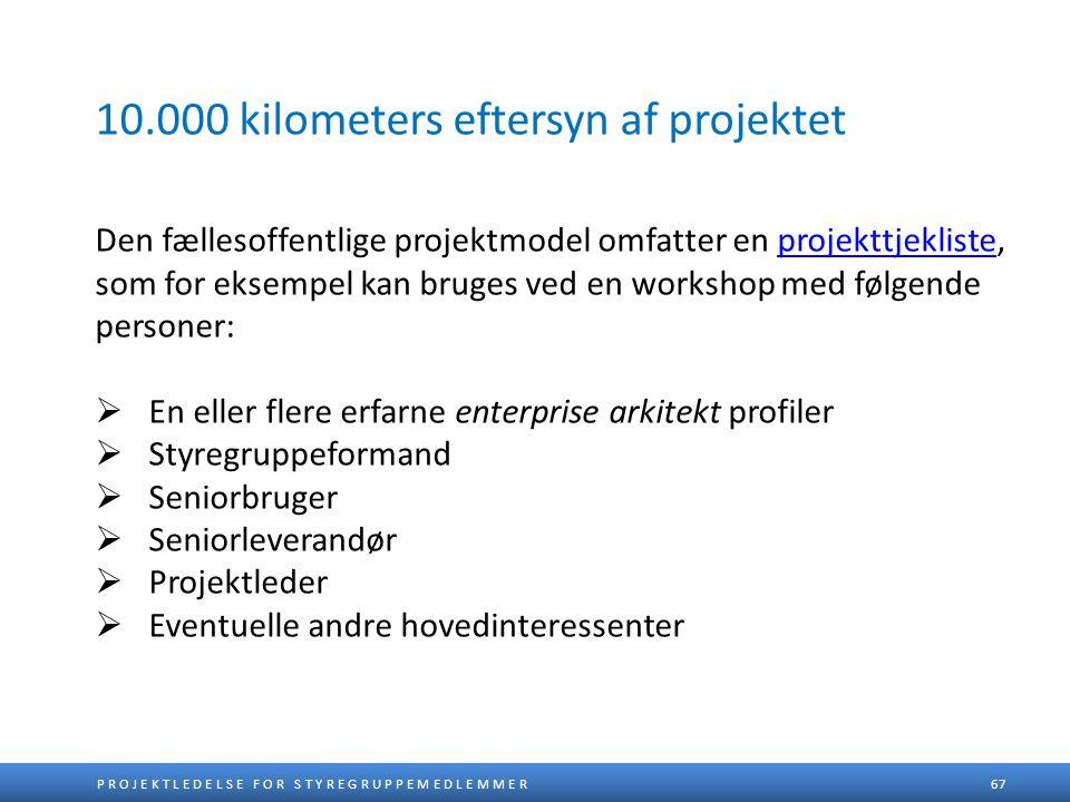 10.000 kilometers eftersyn af projektet