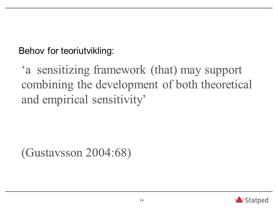 Behov for teoriutvikling: