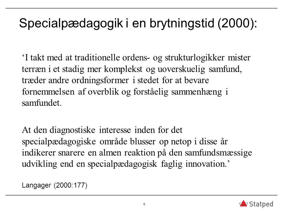 Specialpædagogik i en brytningstid (2000):