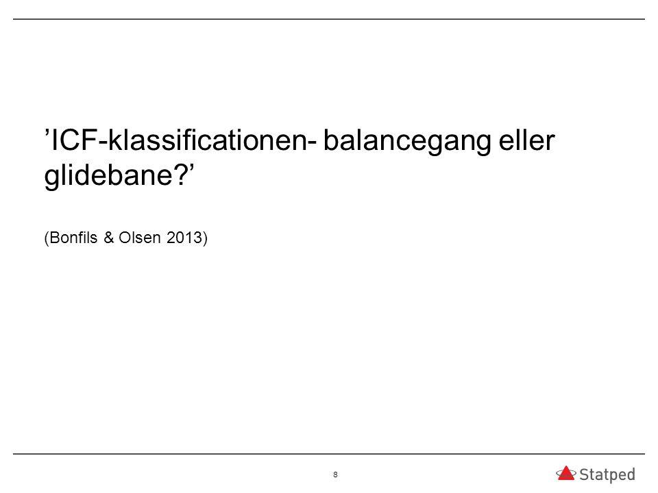 03.04.2017 'ICF-klassificationen- balancegang eller glidebane ' (Bonfils & Olsen 2013)