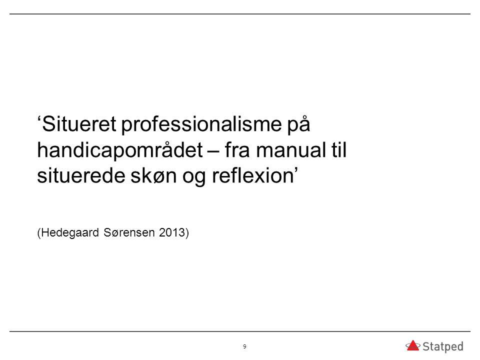 03.04.2017 'Situeret professionalisme på handicapområdet – fra manual til situerede skøn og reflexion'