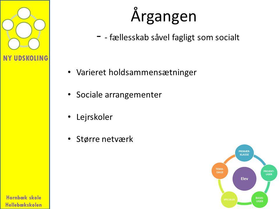 Årgangen - - fællesskab såvel fagligt som socialt