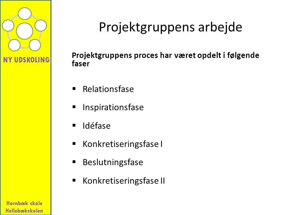 Projektgruppens arbejde
