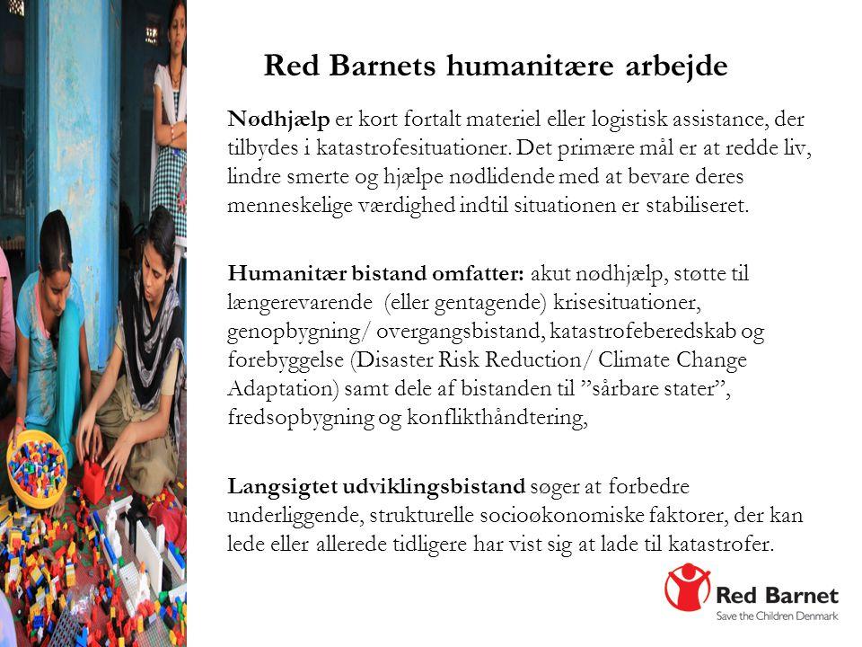Red Barnets humanitære arbejde