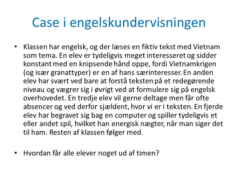 Case i engelskundervisningen