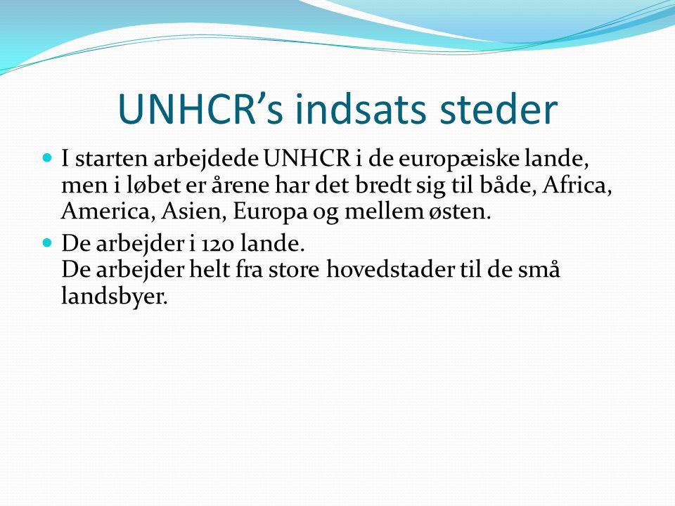 UNHCR's indsats steder