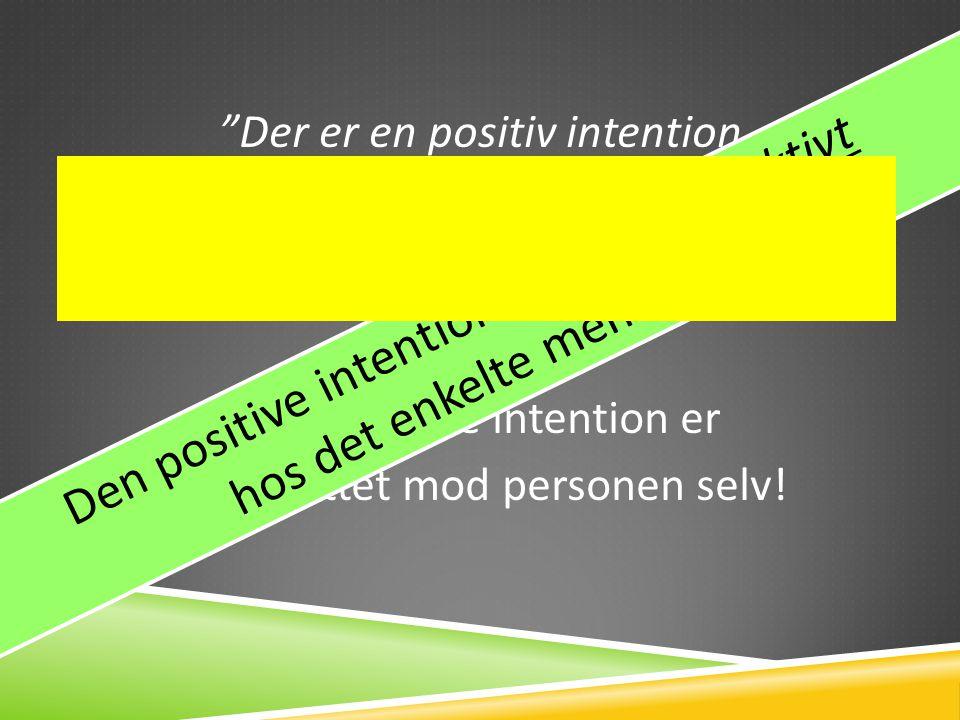 Den positive intention skal ses subjektivt hos det enkelte menneske