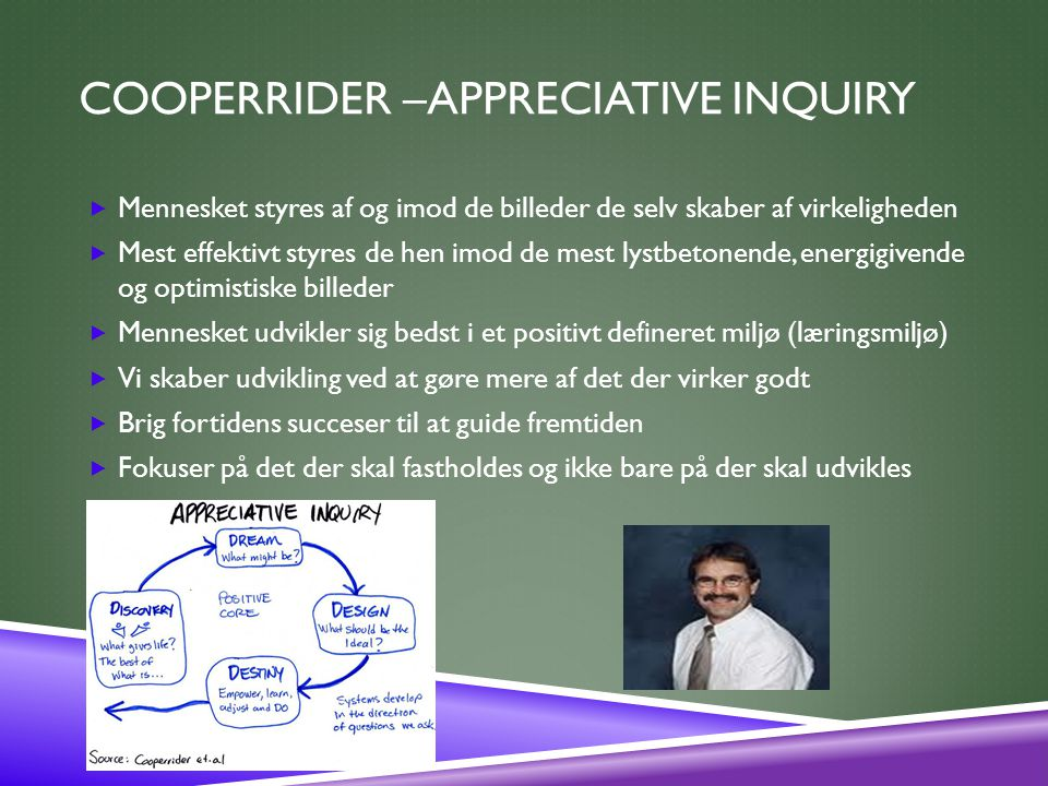 Cooperrider –Appreciative Inquiry