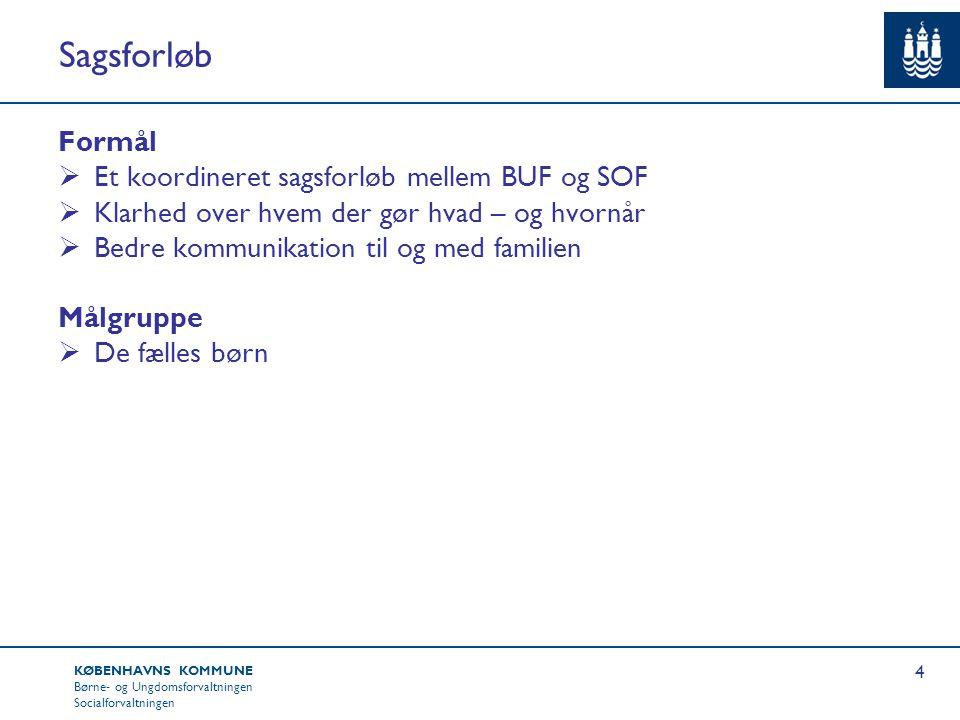 Sagsforløb Formål Et koordineret sagsforløb mellem BUF og SOF