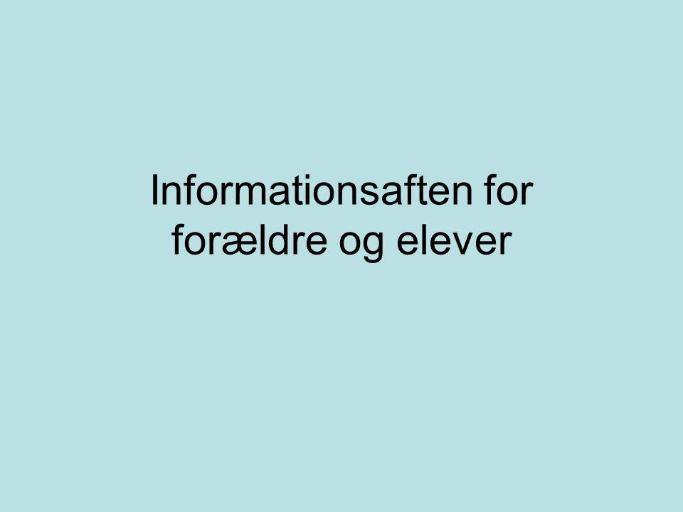 Informationsaften for forældre og elever