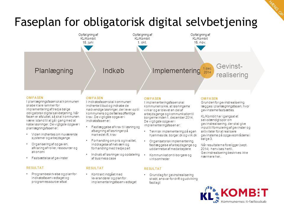 Faseplan for obligatorisk digital selvbetjening