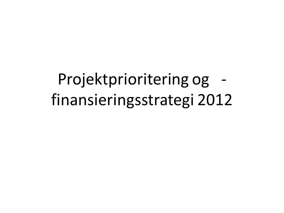 Projektprioritering og -finansieringsstrategi 2012