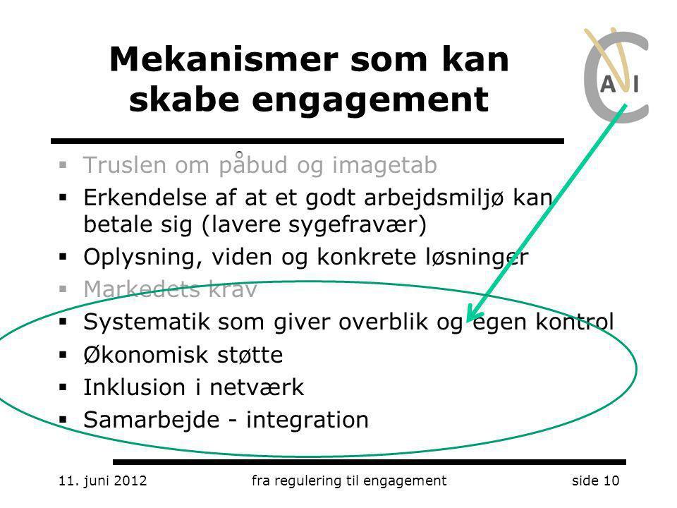 Mekanismer som kan skabe engagement