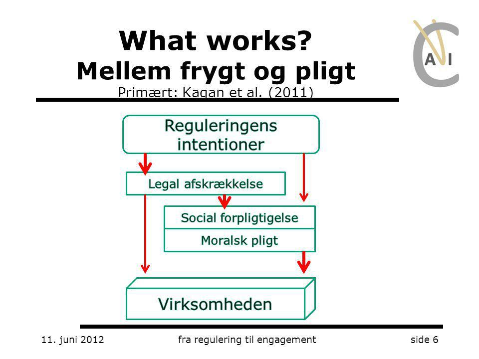 What works Mellem frygt og pligt Primært: Kagan et al. (2011)