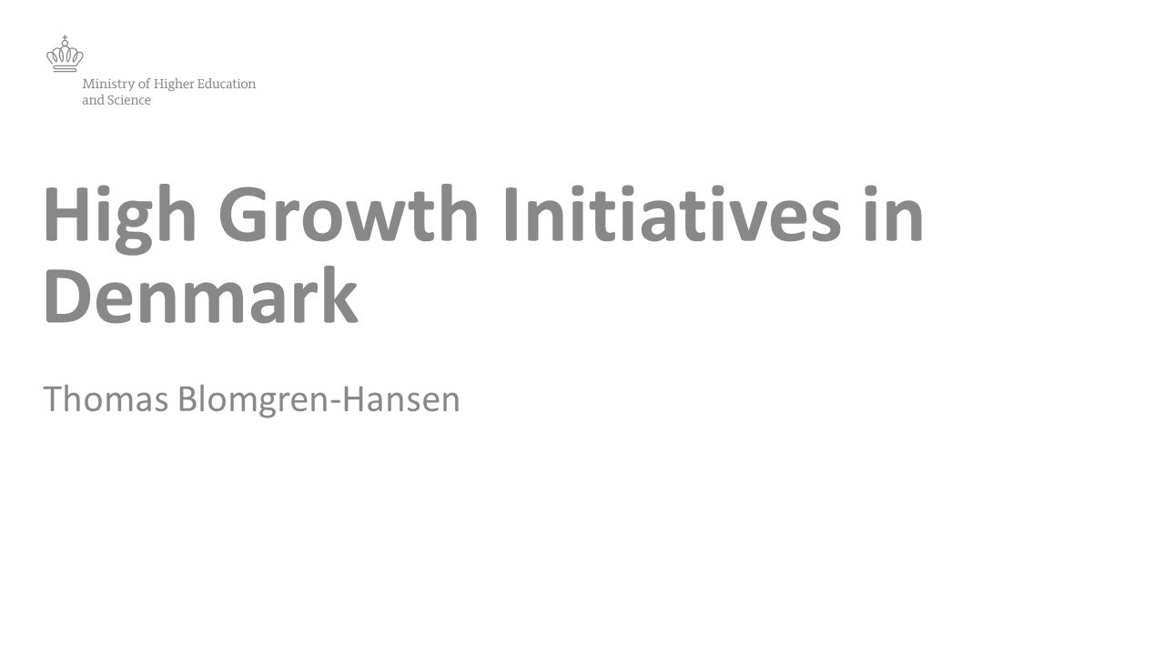 High Growth Initiatives in Denmark