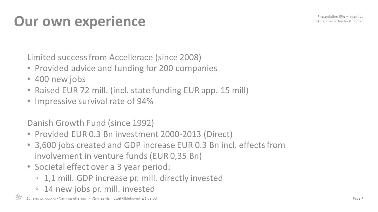 Our own experience Limited success from Accellerace (since 2008)