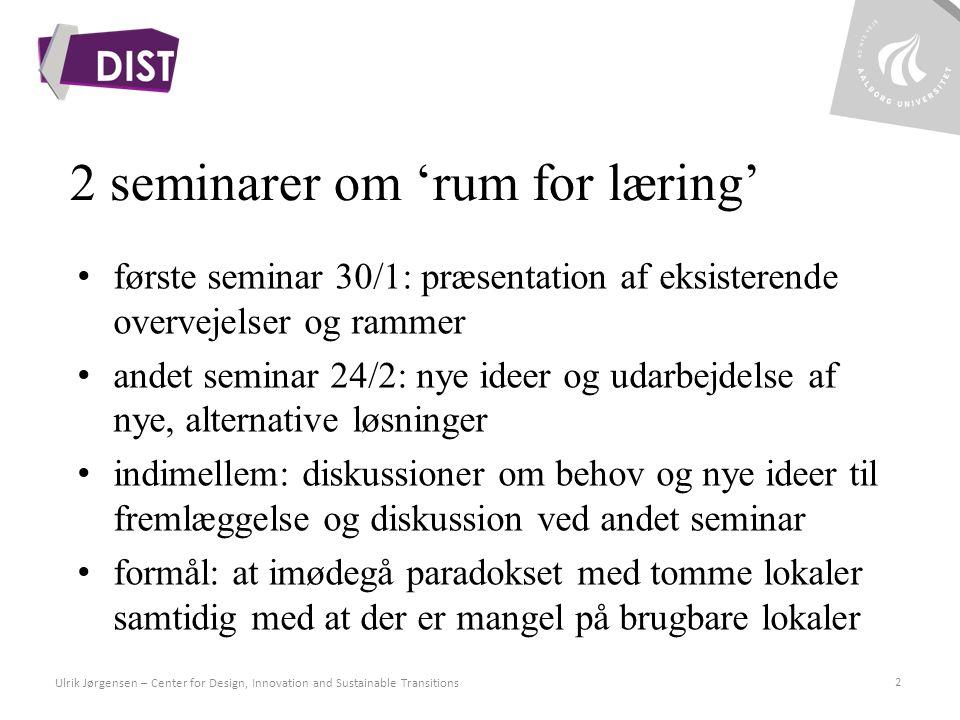 2 seminarer om 'rum for læring'