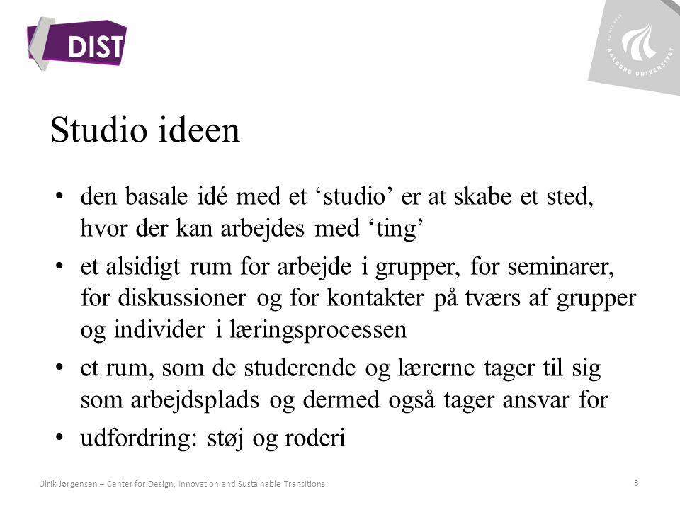 Studio ideen den basale idé med et 'studio' er at skabe et sted, hvor der kan arbejdes med 'ting'