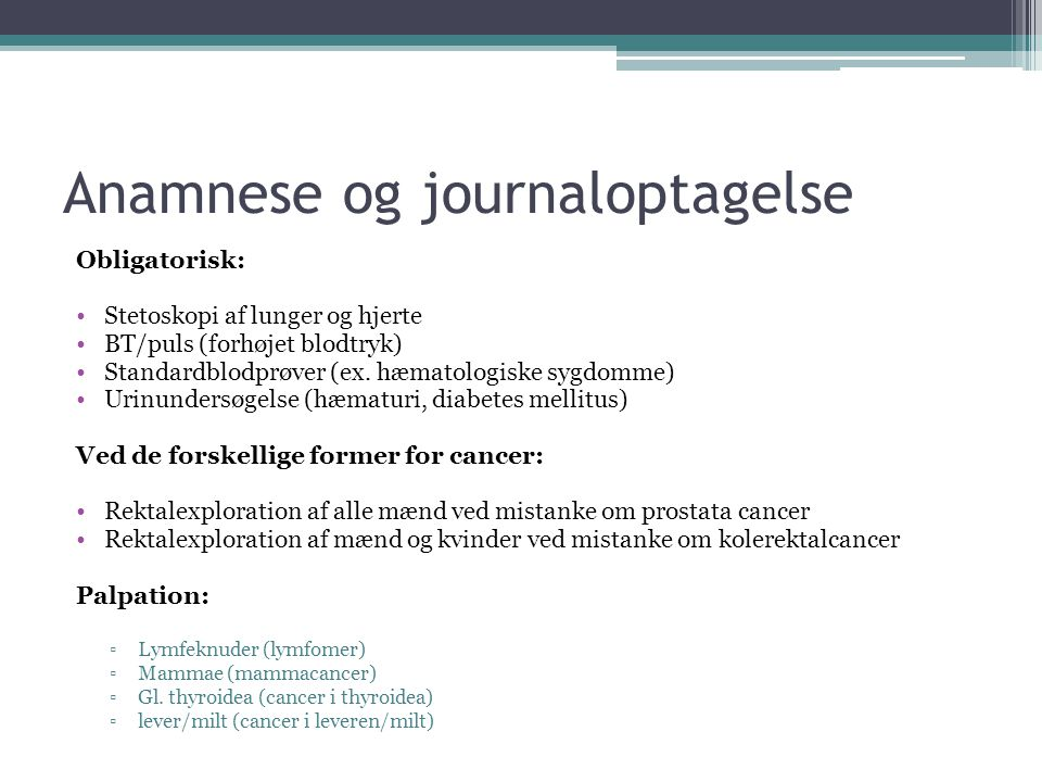 Anamnese og journaloptagelse