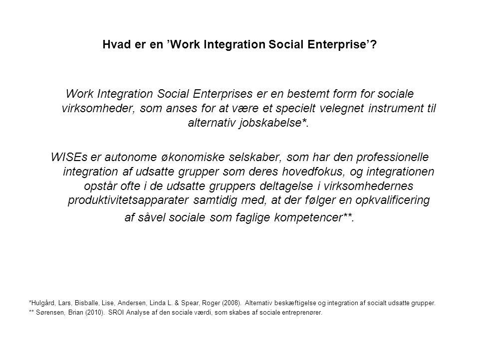 Hvad er en 'Work Integration Social Enterprise'