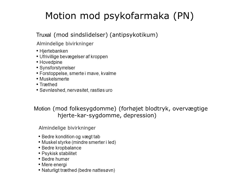 Motion mod psykofarmaka (PN)