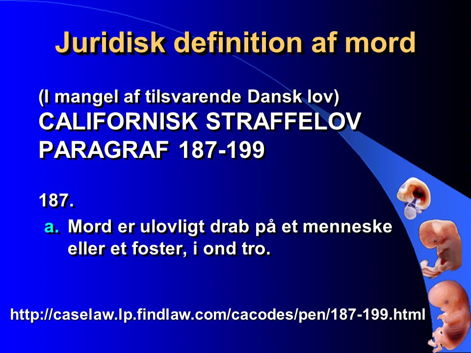 Juridisk definition af mord