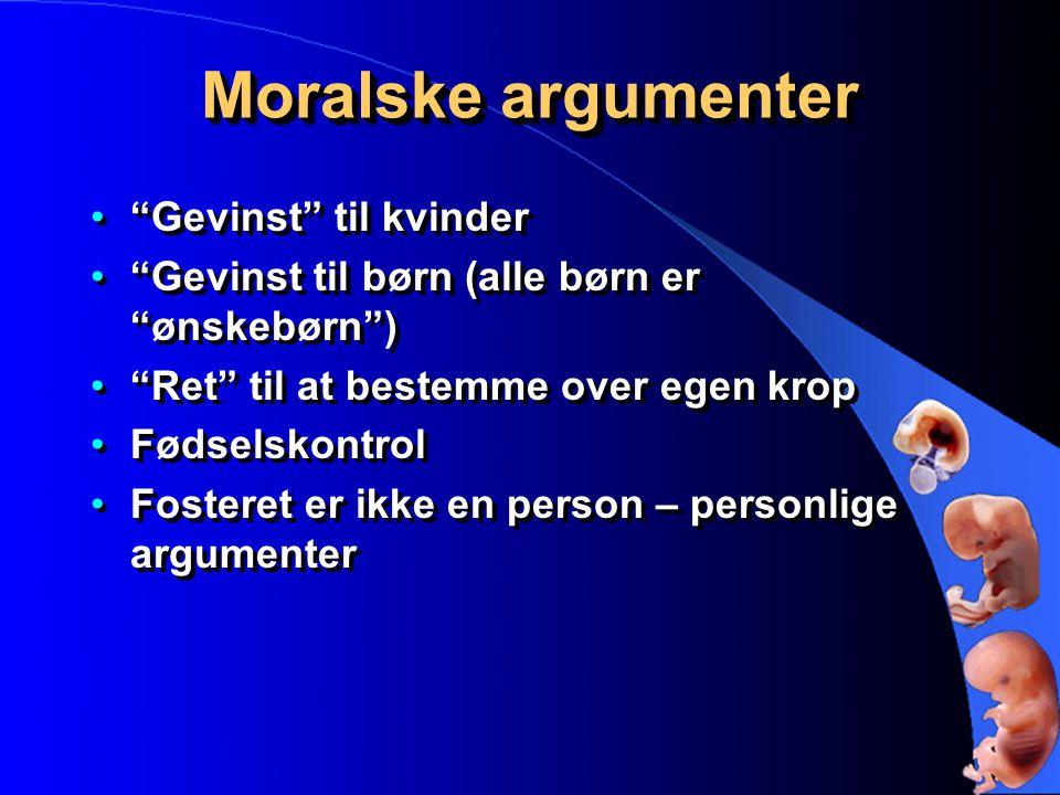 Moralske argumenter Gevinst til kvinder