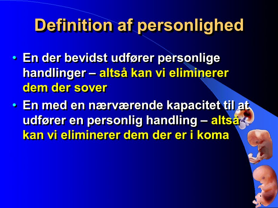 Definition af personlighed