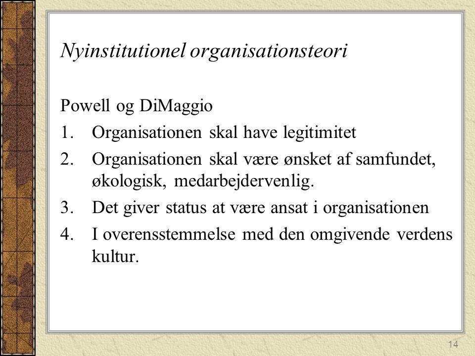 Nyinstitutionel organisationsteori