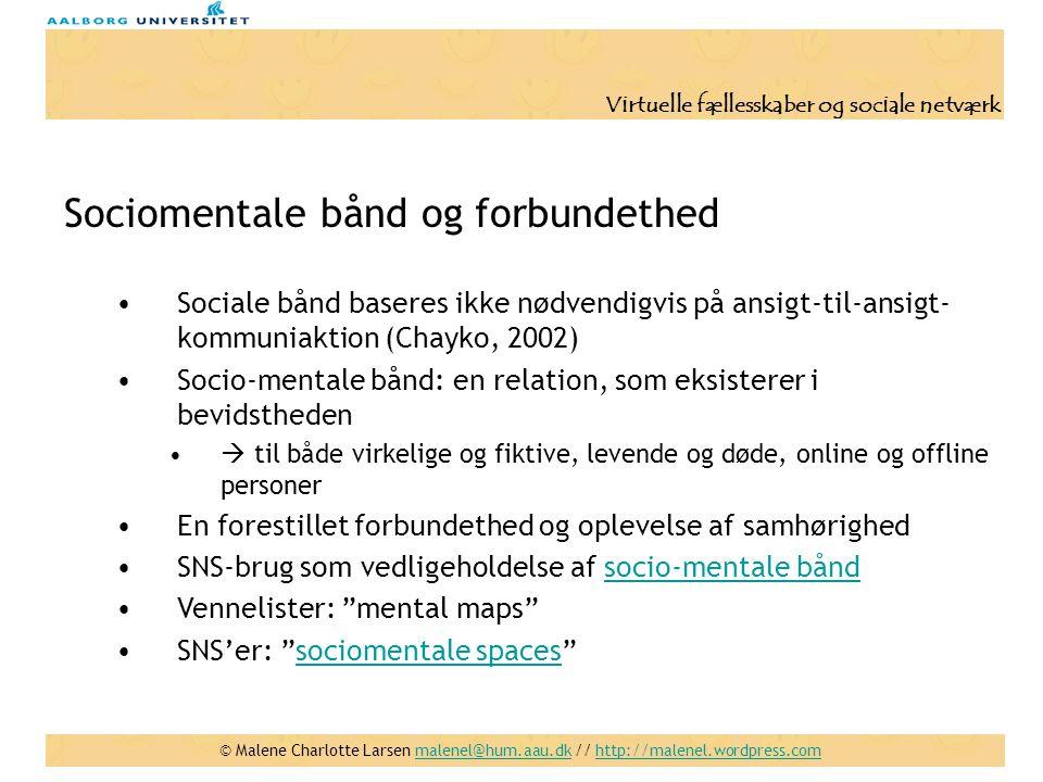 Sociomentale bånd og forbundethed