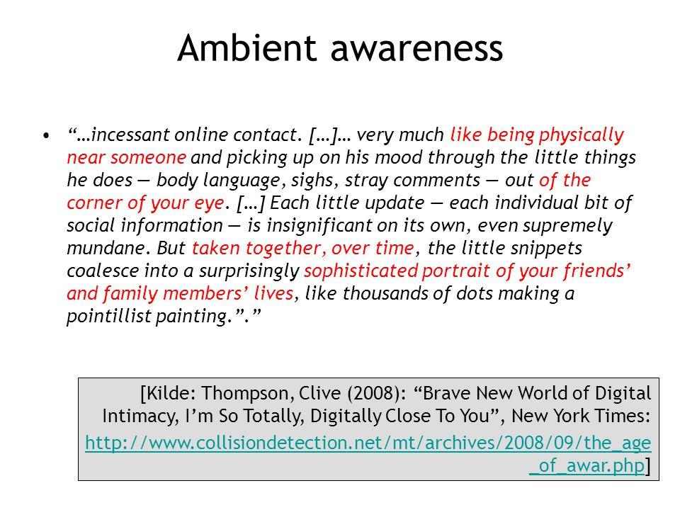 Ambient awareness