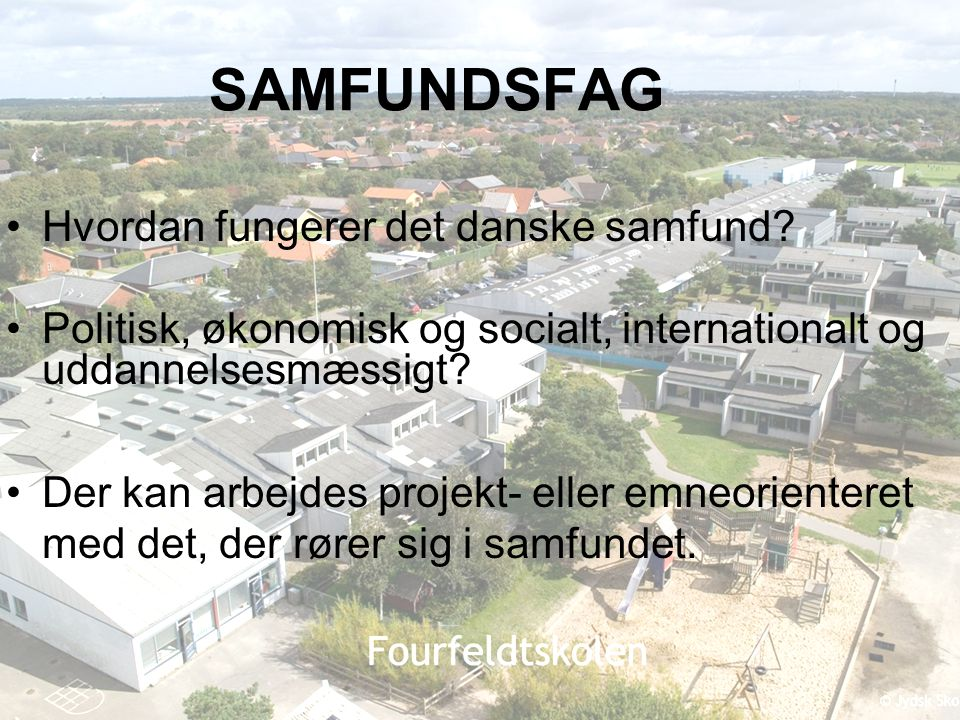 SAMFUNDSFAG Hvordan fungerer det danske samfund