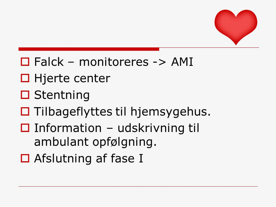 Falck – monitoreres -> AMI