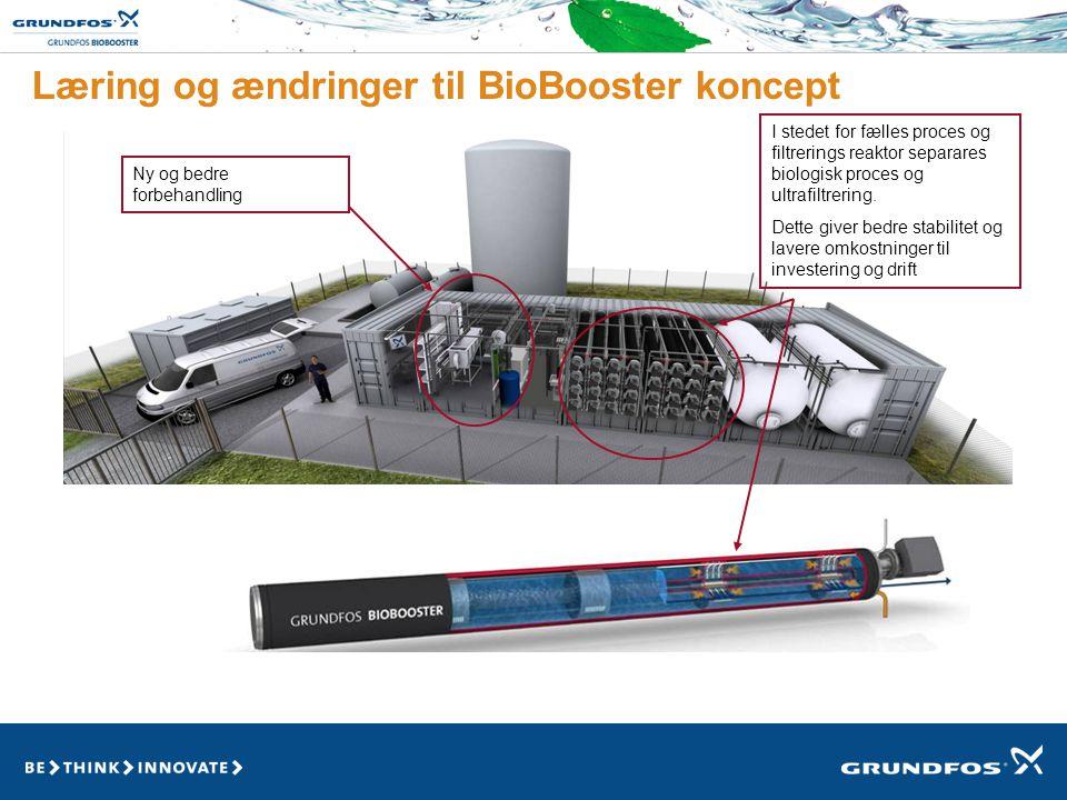 Læring og ændringer til BioBooster koncept