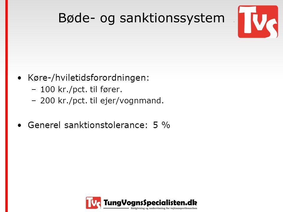 Bøde- og sanktionssystem