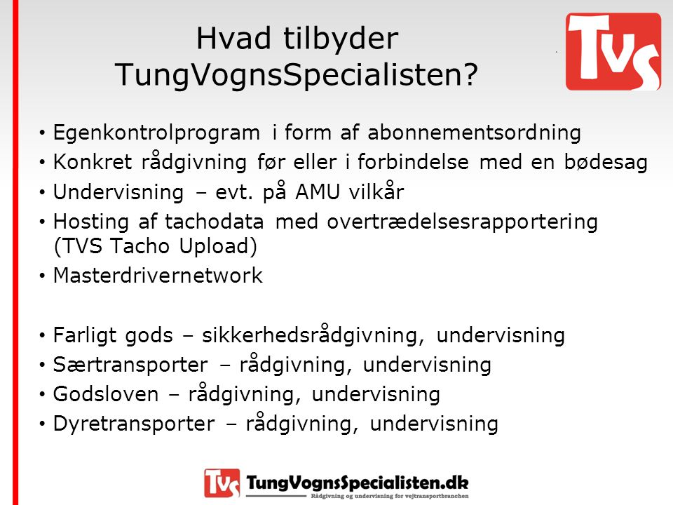 Hvad tilbyder TungVognsSpecialisten