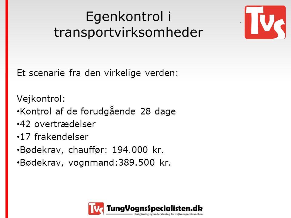 Egenkontrol i transportvirksomheder