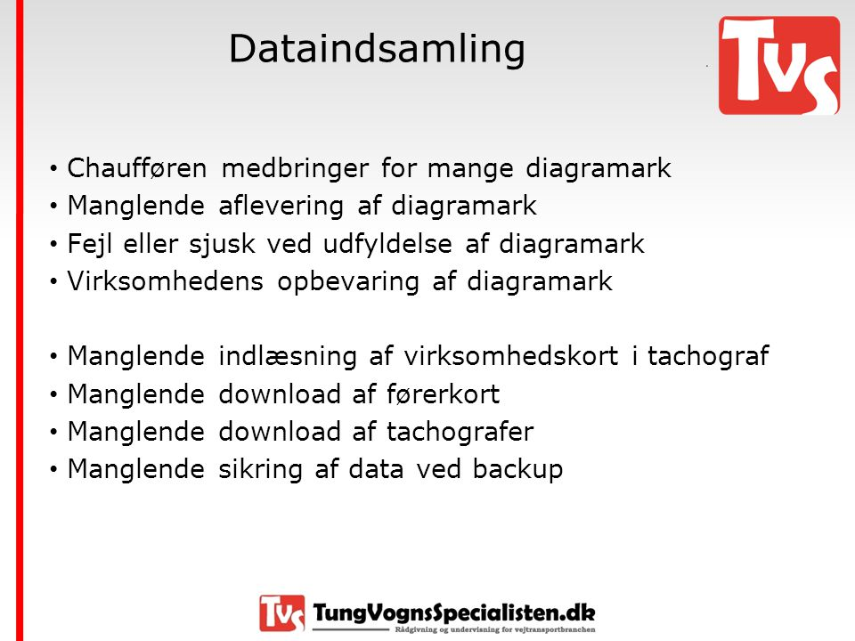 Dataindsamling Chaufføren medbringer for mange diagramark